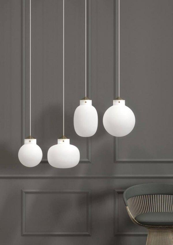 NOWOCZESNA LAMPA WISZĄCA RAITO 22 DESIGN FOR THE PEOPLE 48013001 DESIGNERSKA BIAŁA KULA