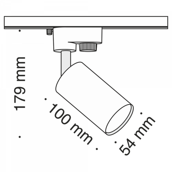 KOMPLETNY ZESTAW SZYNOPRZEWODU Z REFLEKTORKAMI BIAŁY (2m szyny + 5szt. reflektorów) SYSTEM SZYNOWY