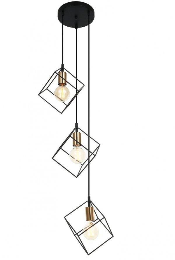 NOWOCZESNA LAMPA WISZĄCA ITALUX MORESTEL MDM-4244/3 BK+BRO