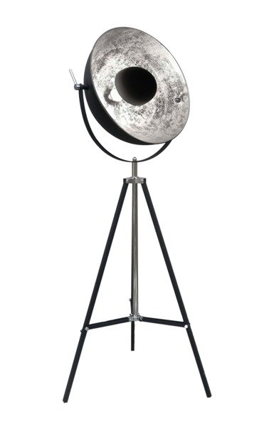 NOWOCZESNA LAMPA PODŁOGOWA NA TRÓJNOGU ZUMA LINE ANTENNE TS-090522F-BKSI CZARNA LAMPA NA STATYWIE