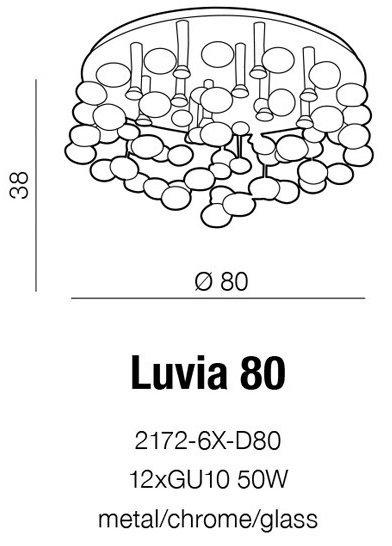 LAMPA PLAFON SUFITOWY AZZARDO LUVIA 80 AZ2542