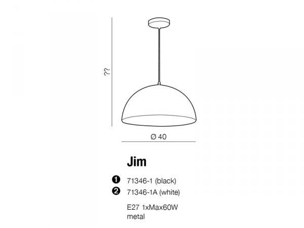 LAMPA SUFITOWA WISZĄCA AZZARDO JIM BLACK AZ1653