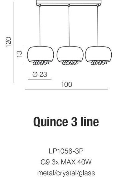 AZZARDO LAMPA SUFITOWA WISZĄCA QUINCE 3 LINE AZ2455