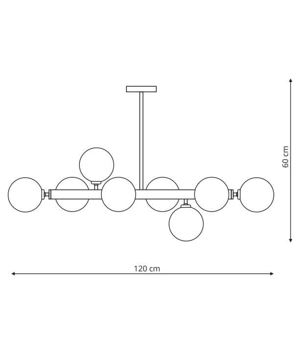 NOWOCZESNY PLAFON SUFITOWY LIGHT PRESTIGE ALISA LP-002/8P