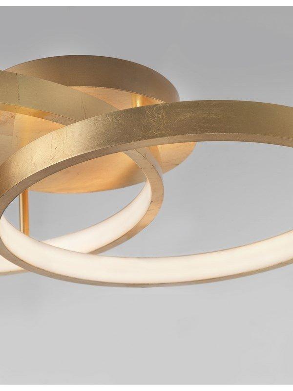 ZŁOTA LAMPA SUFITOWA RINGI ZŁOTY PLAFON OKĘGI DO SALONU