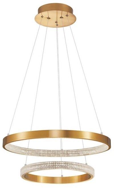 LAMPA WISZĄCA OKRĘGI LED NOWOCZESNA LAMPA PIERŚCIENIE LED ANYCZNY MOSIĄDZ PRESTO