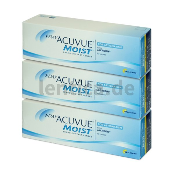 Johnson & Johnson 1 Day Acuvue Moist for Astigmatism (90 Stk.)