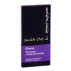 Czekolada 70% kakao z Ghany - kwiat soli morskiej