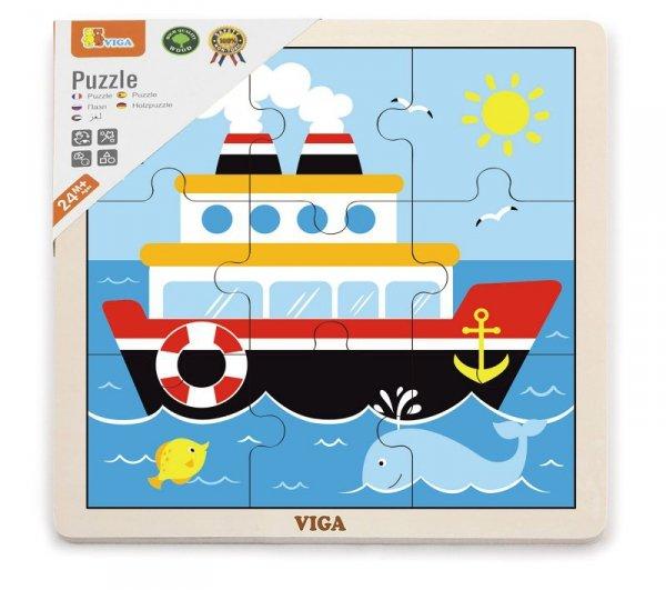 Viga 51445 Puzzle na podkładce 9 elementów - statek