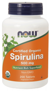 NOW Spirulina 500 mg – 200 tabletek