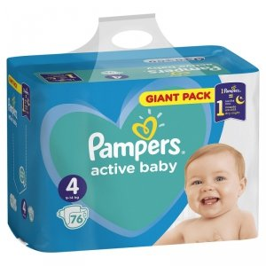 Pampers Zestaw pieluch Active Baby Giant Pack 4 (9-14 kg); 76