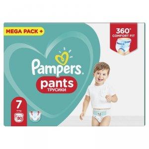 Pampers Pieluchomajtki Pants Mega Box 7 (17+ kg); 80szt