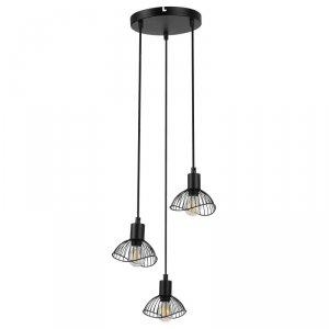 Lampa wisząca Activejet AJE-HOLLY 7 Black (E14 x 3)