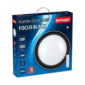 Plafon LED Activejet AJE-FOCUS Black + pilot (WYPRZEDAŻ)