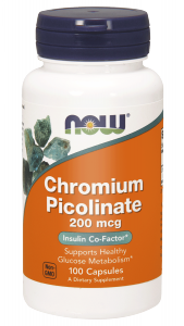 NOW Chromium Picolinate – Pikolinian chromu 200 mcg – 100 kapsułek