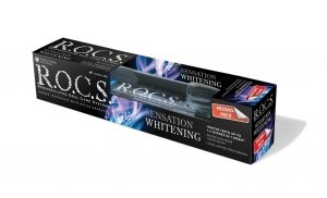 ROCS pasta do zębów Whitening Sensation - wybielająca 60ml + szczoteczka ROCS BlackEdition GRATIS
