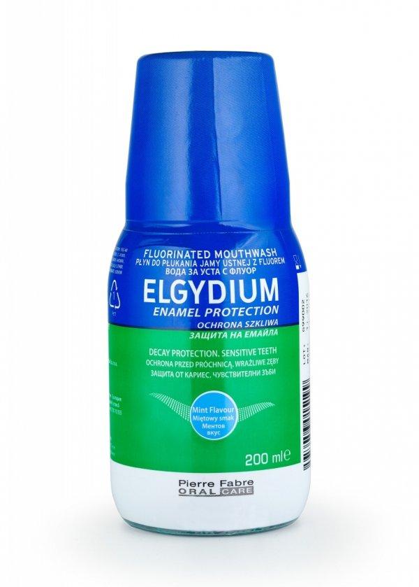 Elgydium płyn do płukania jamy ustnej z fluorem zielony Sensitive 200ml