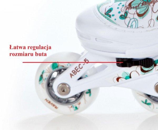 Rolki Raven 2w1 Laguna (white/mint)