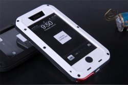 Obudowa biała pancerna GORILLA GLASS iphone 6, 6s