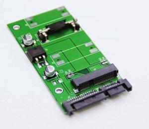 Adapter SSD 2,5'' mini PCIe mSATA do SATA 22pin