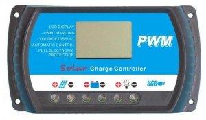 REGULATOR ŁADOWANIA LCD 10A 12V24V PWM USB SOLAR
