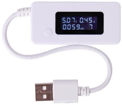 Miernik USB tester napięcia natężenia USB woltomierz