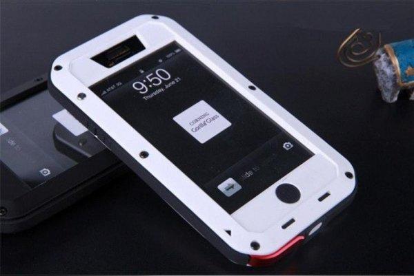Obudowa biała pancerna GORILLA GLASS iphone 4, 4s