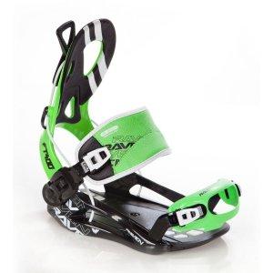 Wiązania snowboardowe Raven FT400 (black / green) 2019