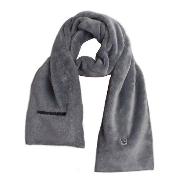 podgrzewany szalik glovii ga1 grey