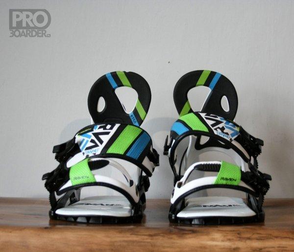 Wiązania snowboardowe Raven s250 (black/white/green) 2019