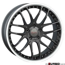 Breyton RACE GTP 9,0x21 5x120 Matt Gun Metal / Matt Black with diamond polished lip