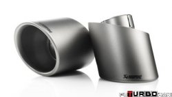 AKRAPOVIC Tail pipe set (Titanium, fits on stock exhaust)  Volkswagen Golf (VI) TSI 1,8 2009-2009