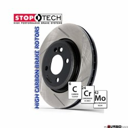 StopTech 126 Hi-Carbon Slotted tarcza hamulcowa BMW 126.34026SR