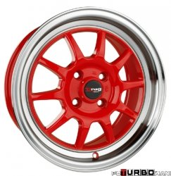 Drag Wheels DR16 Red 16x7 4x100 ET40