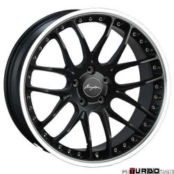 Breyton RACE GTP 9,5x19 5x120 Matt Gun Metal / Matt Black with diamond polished lip