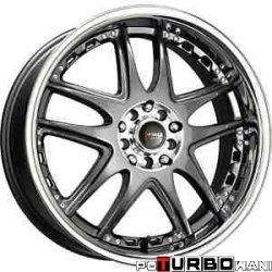 Drag Wheels DR14 Gun Metal 17x7 5x100/114,3 ET40