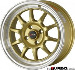 Drag Wheels DR16 Gold 15x7 4x100 ET40