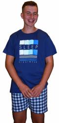 Muzzy ! Piżama męska 100% bawełny - Niebieskie sny