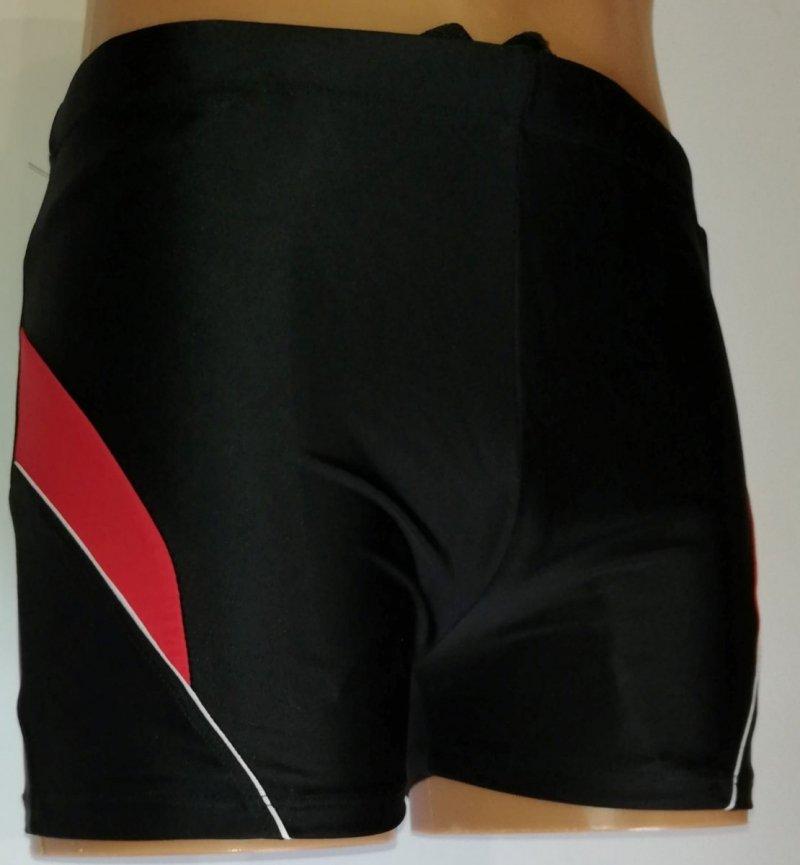 Kąpielówki męskie czarne z czerwienią R: