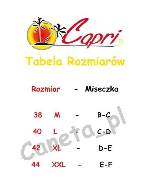 Strój SUKIENKA Plażowa Capri S10 Czerwień R: