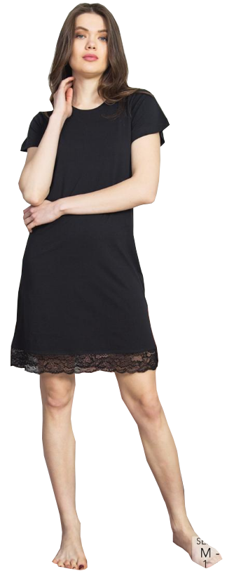 Vienetta Koszula KORONKA czarna R: