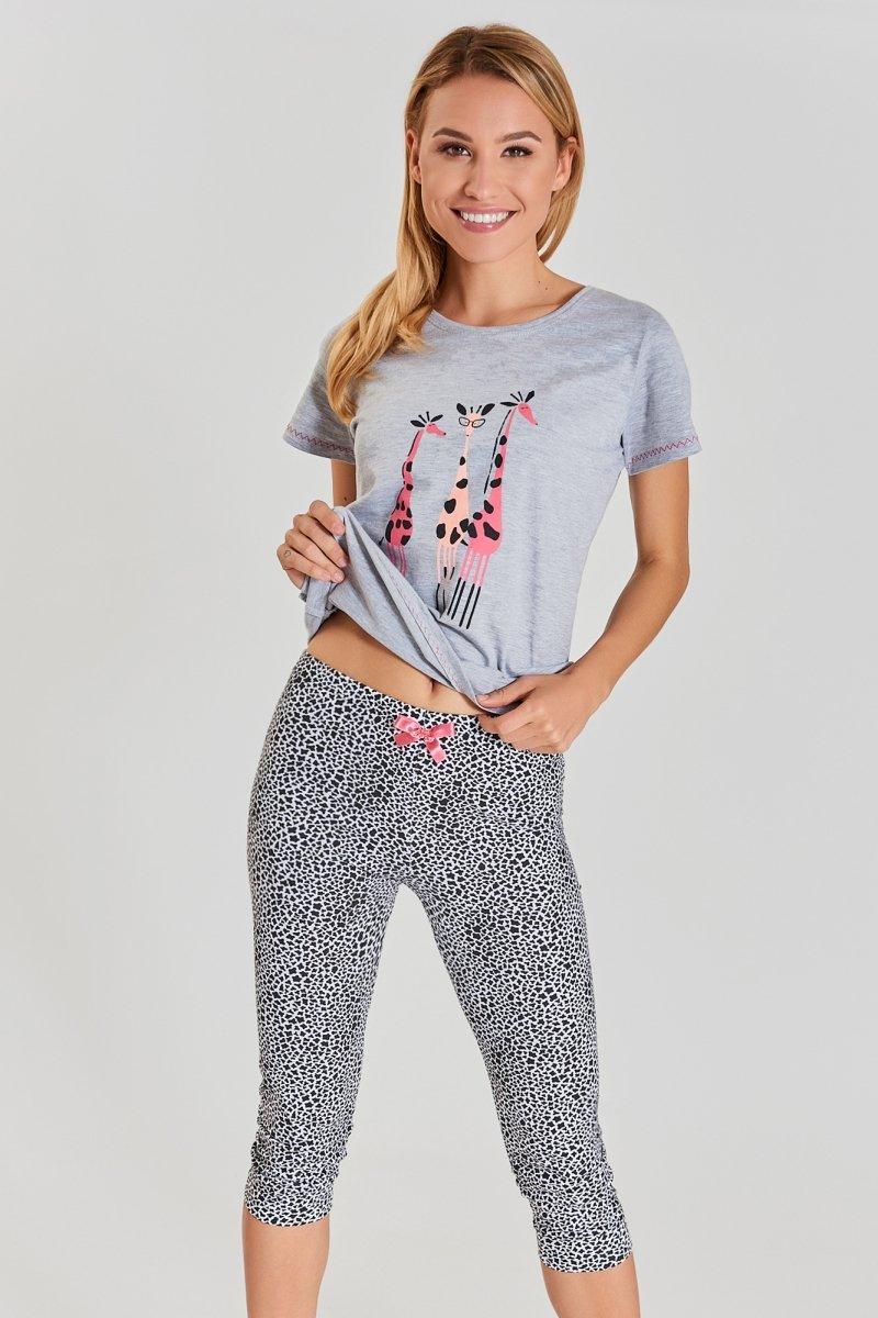 MUZZY Piżama damska Giraffe x3  R: