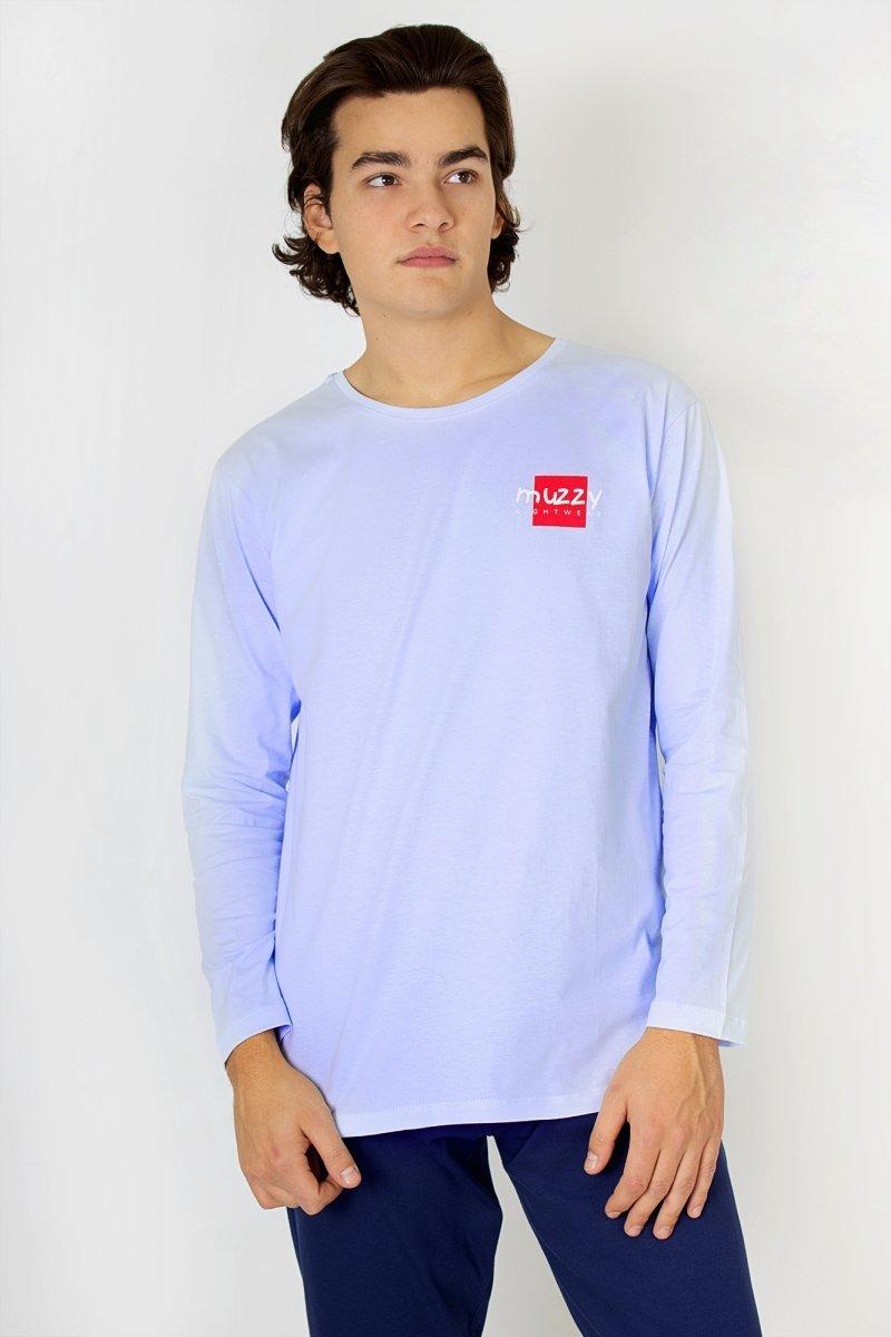 Muzzy Piżama męska Muzzy - niebieska R: