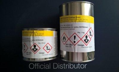 Farba zaprawkowa do cynku OSTRODUR (375 ml - ok. 0,5kg)