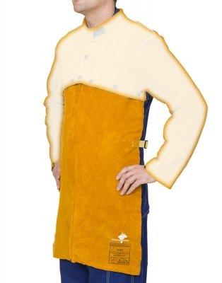 WELDAS-Golden Brown™ skórzany fartuch spawalniczy z dwoiny bydlęcej dopinany do bolerka 44-2828