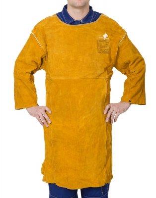 Weldas-Golden Brown™ skórzany fartuch spawalniczy z rękawami z dwoiny bydlęcej 44-2847XL (92 cm x 63 cm) dł x szer