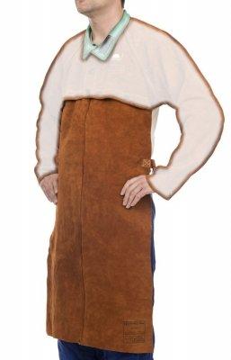 WELDAS-Lava Brown™ skórzany fartuch spawalniczy z dwoiny bydlęcej dopinany do bolerka 44-7820