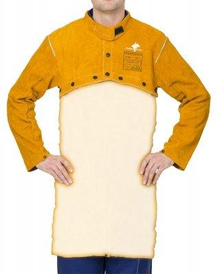 WELDAS-Golden Brown™ skórzana, spawalnicza ochrona ramion i barków (bolerko) z dwoiny bydlęcej 44-2800 XXL
