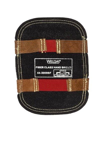 WELDAS-Aluminizowana osłona z włókna szklanego na rękę odbiająca wysoką temperaturę, czarne włókno szklane od wewnątrz 44-3009BF