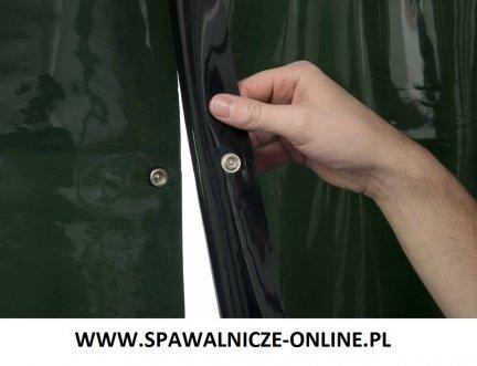 WELDAS-Kurtyna spawalnicza LAVAshield 2 x 55-7218 zielony, spinany 270x180 cm (szer x wys)